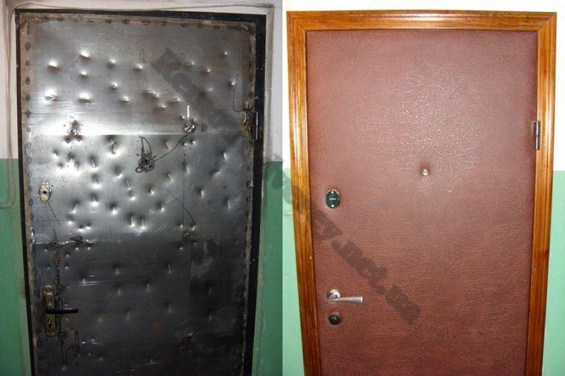 сделать чем можно обновить железную дверь с фото про главный город